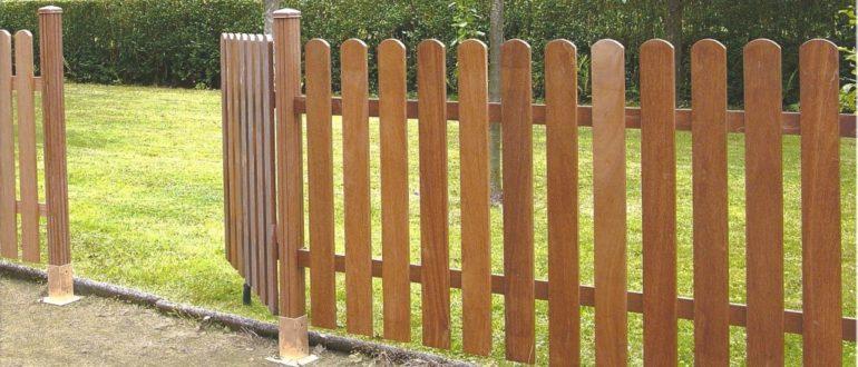 Как сделать забор из штакетника